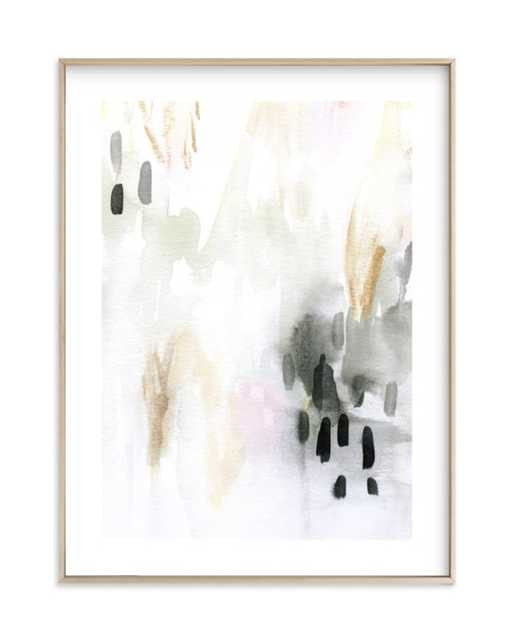 Ever Softly - Charcoal, Matte Brass Frame, 18x24 - Minted