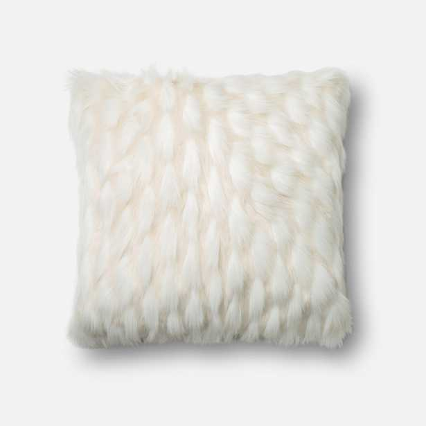 """DSET Pillow WHITE 22"""" X 22"""" Cover w/ Polyester fill - Loma Threads"""