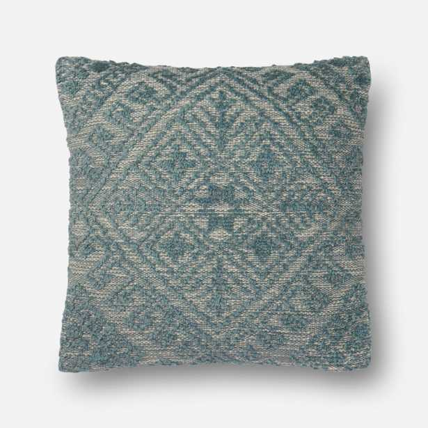 """PILLOWS Pillow BLUE 22"""" X 22"""" Cover w/Poly - Loma Threads"""
