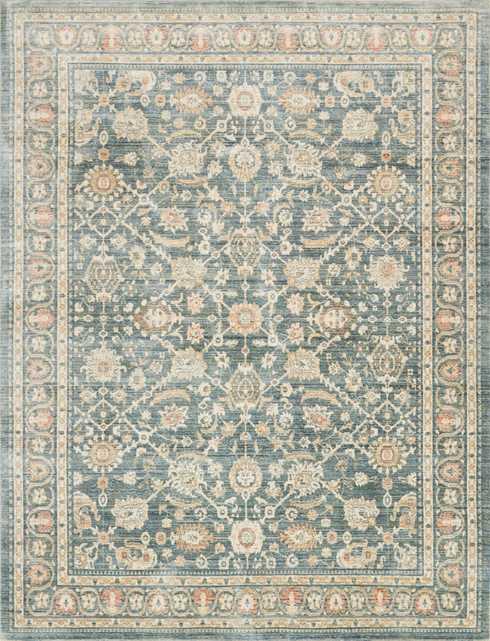 "TROUSDALE Rug BLUE 5' X 7'-5"" - Loma Threads"
