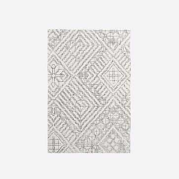 Stone Tile Rug, Slate, 8' x 10' - West Elm