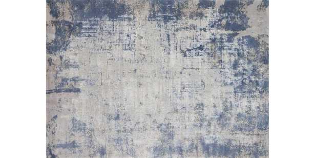 "PATINA Rug DENIM / GREY 5'-3"" X 7'-8"" - Loma Threads"
