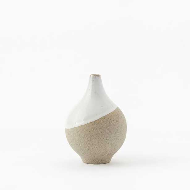 Half-Dipped Stoneware Vase - Small Bulb - West Elm