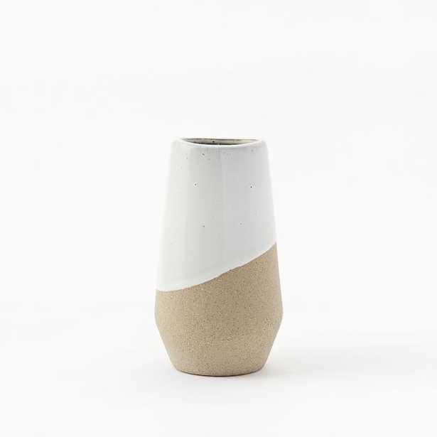 Half-Dipped Stoneware Vase - Medium Skinny - West Elm