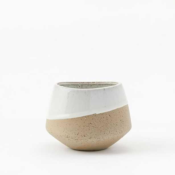 Half-Dipped Stoneware Vase - Bowl - West Elm