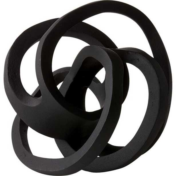 Infinity Black Knot Sculpture - CB2