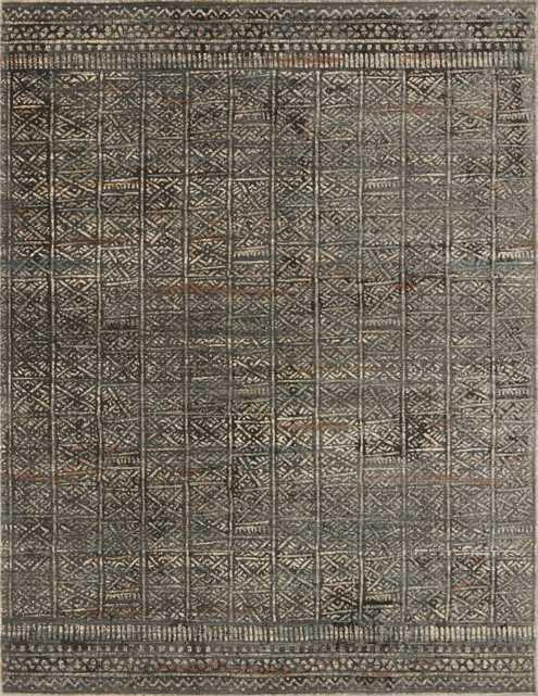 "JAVARI Rug CHARCOAL / SILVER 5'-3"" X 7'-4"" - Loma Threads"