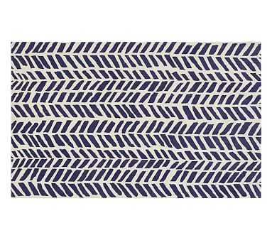 Chevron Arrows Rug, 8x10', Navy - Pottery Barn Kids