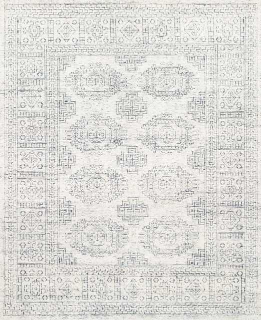 "VESTIGE Rug WHITE / INDIGO 8'-0"" x 10'-0"" - Loma Threads"