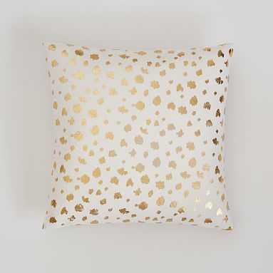 Metallic Pillow Cover, 16X16, Gold Ikat Dot - Pottery Barn Teen