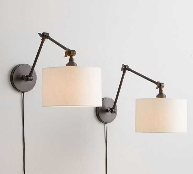 PB CLASSIC ARTICULATING SCONCE – EMERY LINEN (set of 2) Plug-in - Pottery Barn