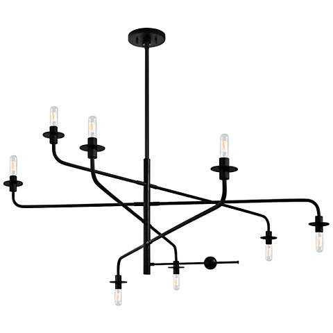 """Sonneman Atelier 60"""" Wide Satin Black Pendant Light - Lamps Plus"""