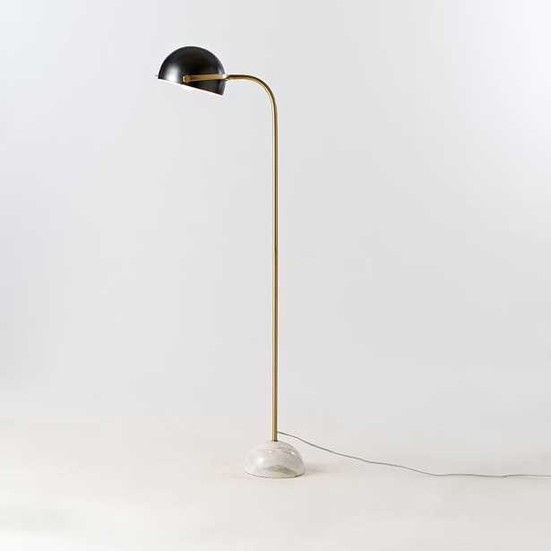 Clint Floor Lamp - Antique Bronze/Marble - West Elm