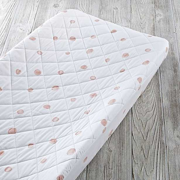Pink Polka Dot Changing Pad Cover - Crate and Barrel