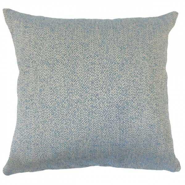 """Zesiro Woven Pillow Blue - 26"""" Euro Sham, no insert - Linen & Seam"""
