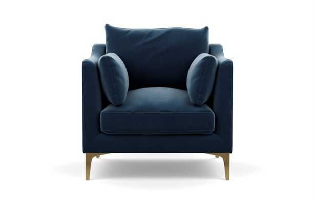 CAITLIN BY THE EVERYGIRL ACCENT CHAIR PETITE - Sapphire - Interior Define