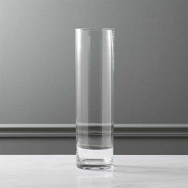 "clear cylinder vase 19.5"" - CB2"