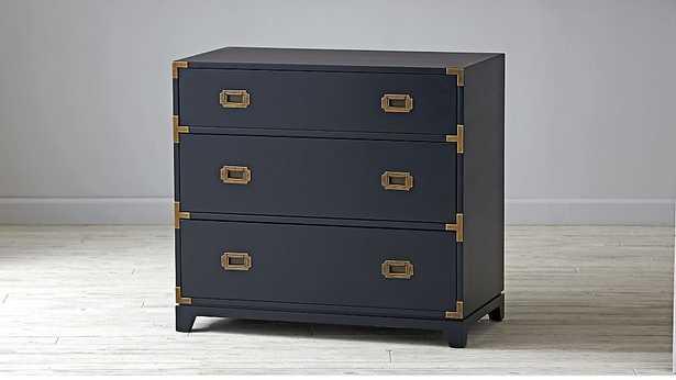 Kids Navy Campaign 3-Drawer Dresser - Crate and Barrel