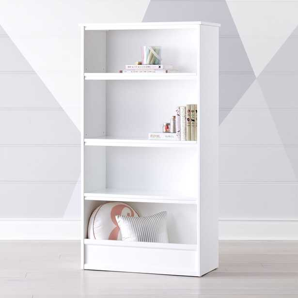 Horizon Tall White Bookcase - Crate and Barrel