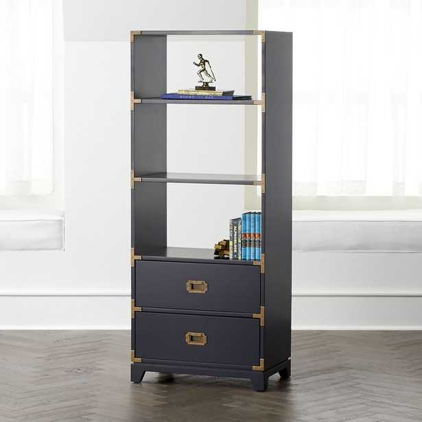 Navy Campaign Bookcase - Crate and Barrel