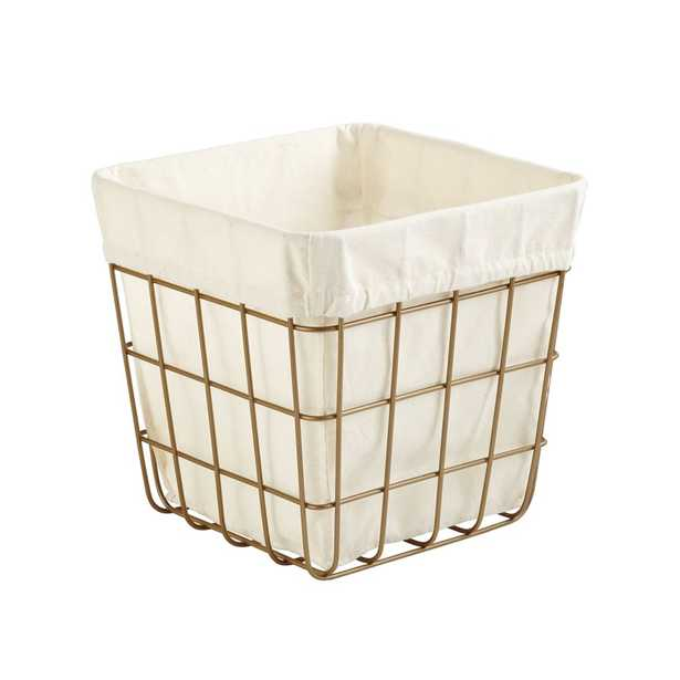 Gold Wire Cube Bin - Crate and Barrel