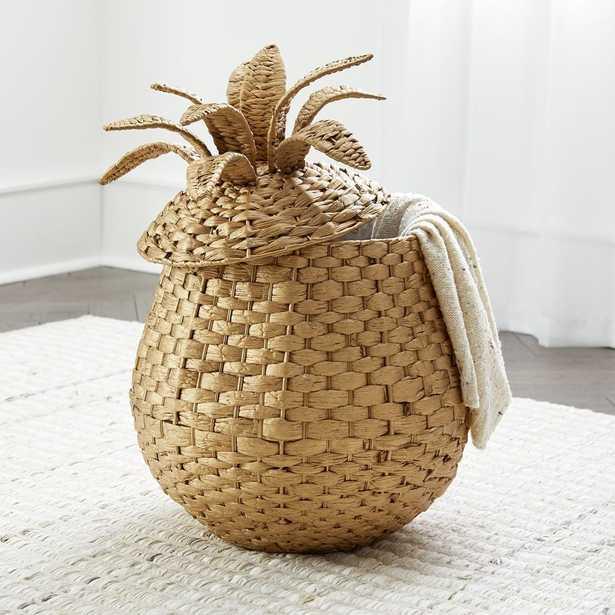Pineapple Floor Basket - Crate and Barrel