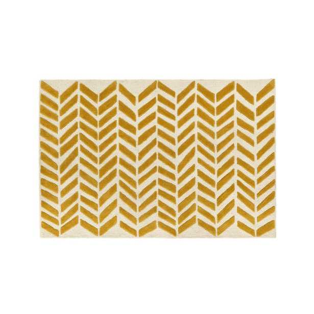 5x8' Yellow Chevron Rug - Crate and Barrel