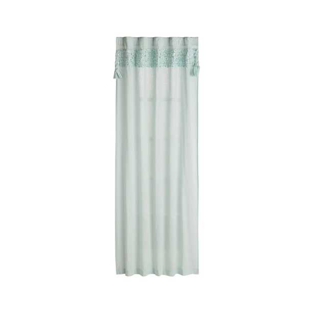 """Fringe Mint 84"""" Curtain - Crate and Barrel"""