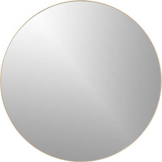"""Infinity Brass Round Wall Mirror 36"""""" - CB2"