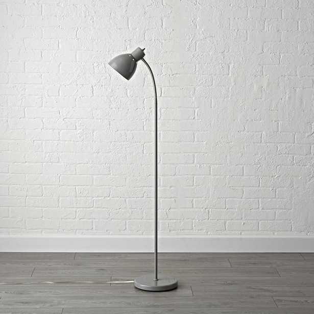 Grey Adjustable Floor Lamp - Crate and Barrel