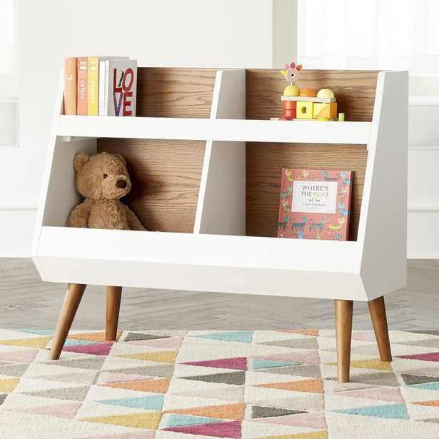 Walnut and White Mid-Century Bookcase - Crate and Barrel