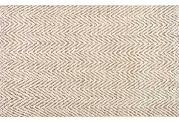 5'x8' Vania Chevron Jute Rug, Ivory - Loom 23