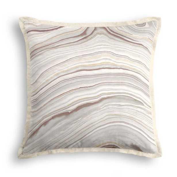 "Light Gray Marble Pillow - Marbleous - Quarry - 18""x18"" square - Down Insert - Loom Decor"