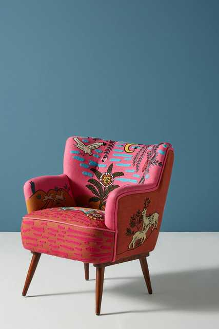 Imagined World Accent Chair - Anthropologie