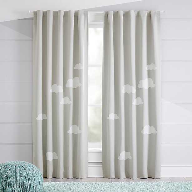 """Cloud 63"""" Blackout Curtain - Crate and Barrel"""