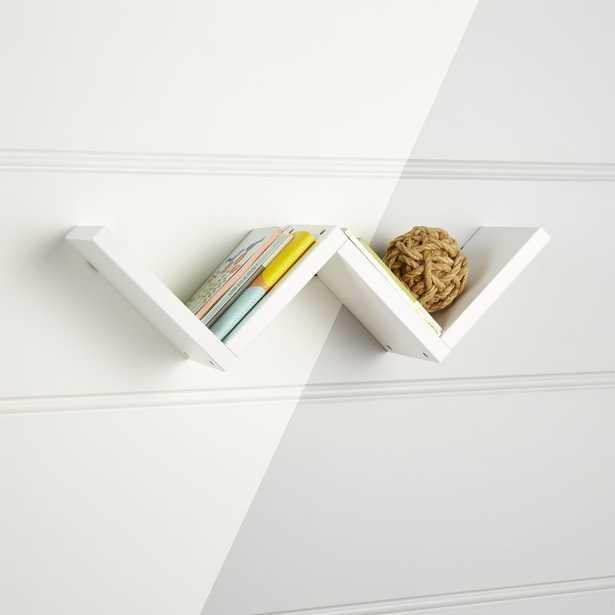 Origami White Wall Shelf - Crate and Barrel