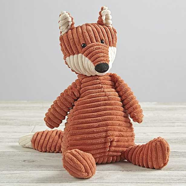Jellycat Corduroy Fox Stuffed Animal - Crate and Barrel
