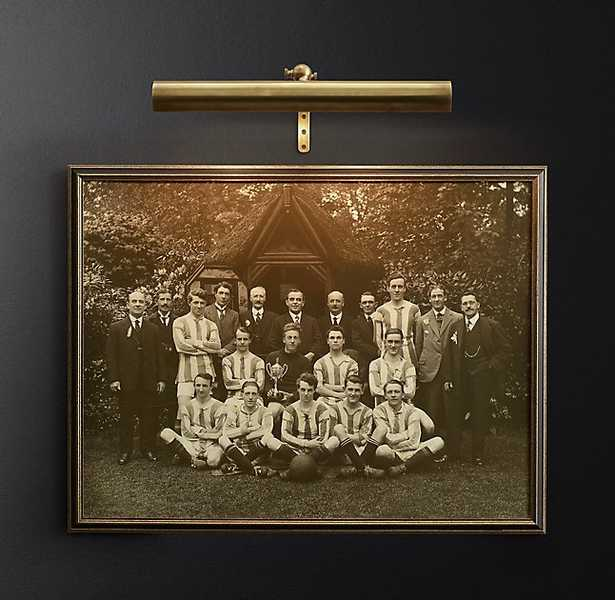 MODERN PICTURE LIGHT SCONCE - Brass - RH Modern