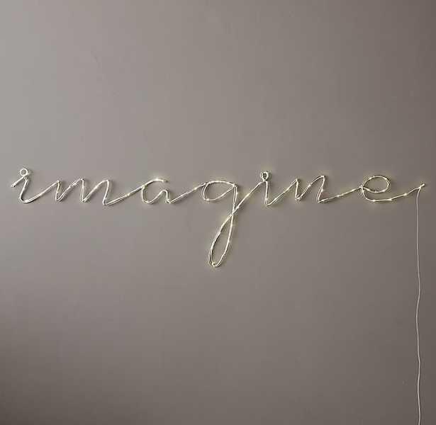 """STARRY LIGHT WALL DÉCOR - """"IMAGINE"""" - RH Teen"""