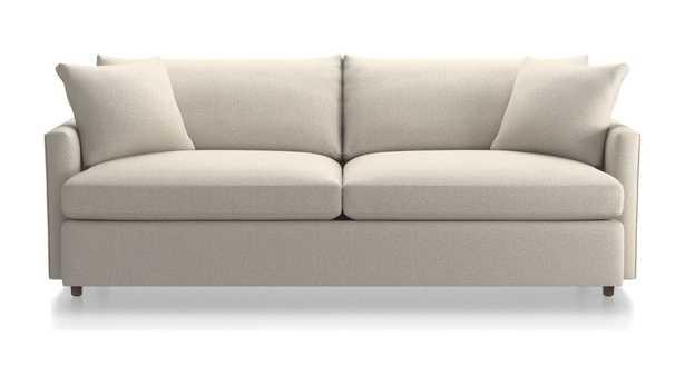 "Lounge II Petite 93"" Sofa Taft, Cement - Crate and Barrel"