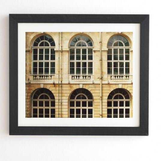 "CHATEAU WINDOWS Black Framed Wall Art - 19 x 22.4"" - Wander Print Co."