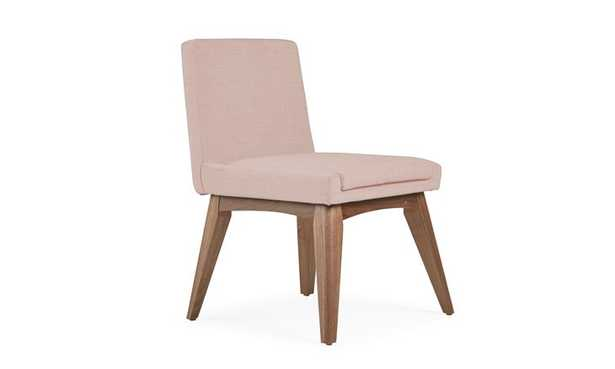 Pink Spencer Mid Century Modern Dining Chair - Mixology Blush - Walnut - Joybird