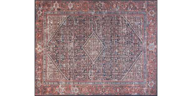 """LUCCA Rug NAVY / RED 7'-6"""" x 9'-6"""" - Loma Threads"""