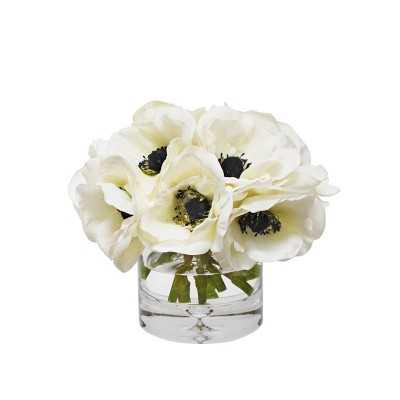 Faux Anemone Arrangement in Glass Vase - Williams Sonoma