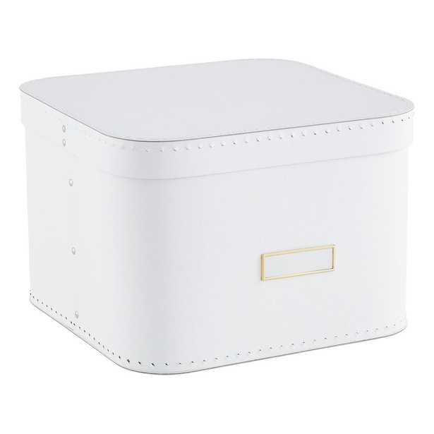White Oskar Storage Box - containerstore.com