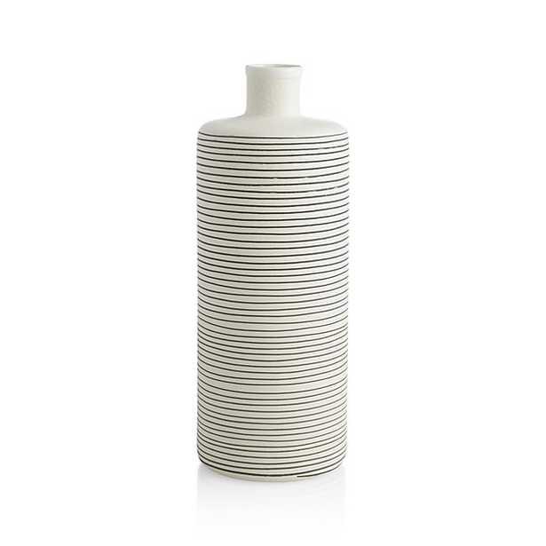 Raya Cream Bottle Vase - Crate and Barrel