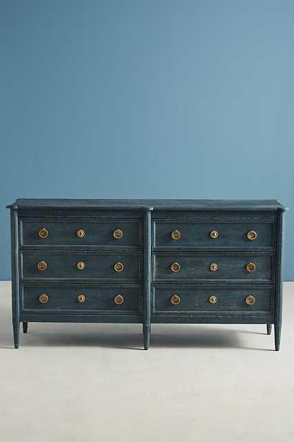 Washed Wood Six-Drawer Dresser - Anthropologie
