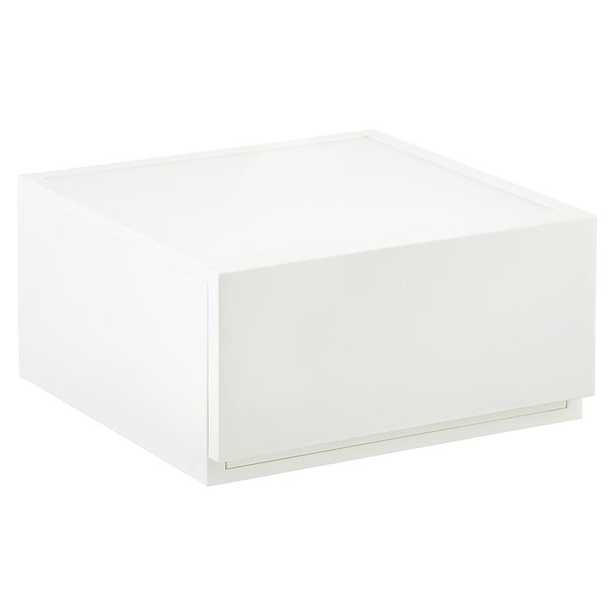 Wide Opaque Modular Stackable Drawer White - containerstore.com