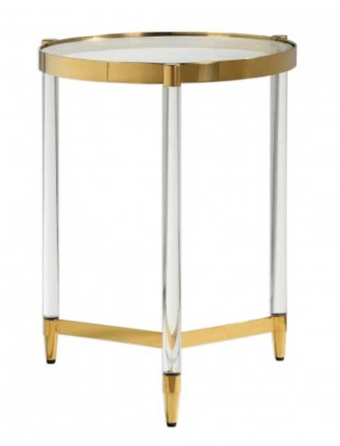 Karla Accent Table, Gold - Lulu and Georgia
