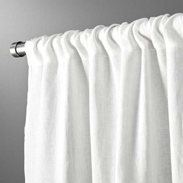 "White linen curtain panel 48""x96"" - CB2"